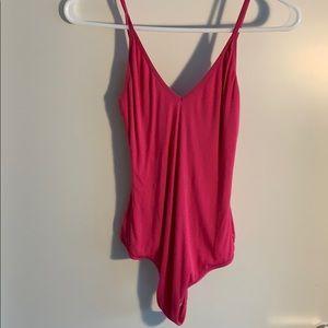 Aritzia Tops - Hot pink Aritzia body suit